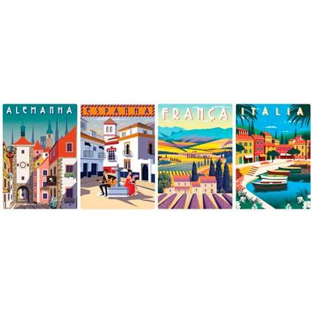Quebra-Cabeça Cartões Postais da Europa