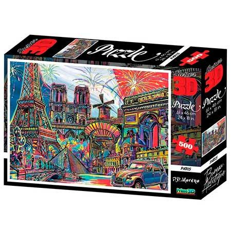 Quebra-Cabeça Super 3D Paris
