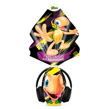 Ovo de Páscoa Tortuguita Headphone Arcor