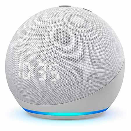 Echo Dot 4ª Geração com Relógio