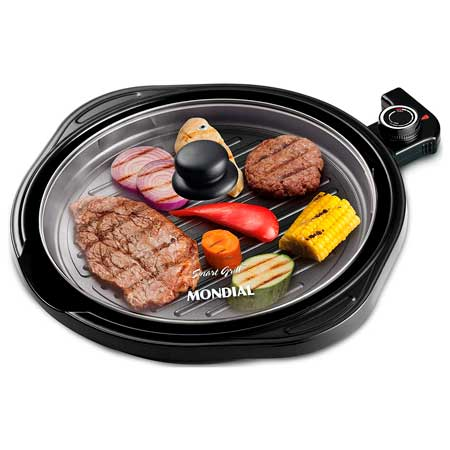Grill Mondial Redondo Smart Grill G-04 2 em 1