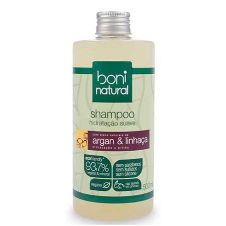 Shampoo Argan e Linhaça (Boni Natural)