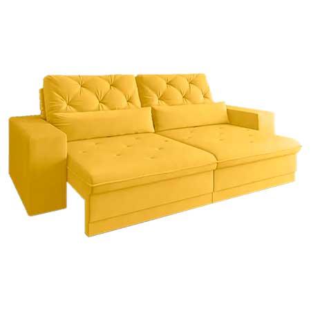 Sofá Net Royale Assento Retrátil e Reclinável