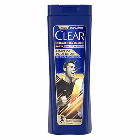 Shampoo Clear Sports Limpeza Profunda 400ml