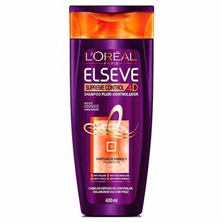 Shampoo Supreme Control 4D Elseve L'Oréal 400ml